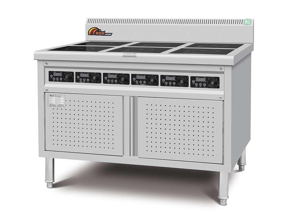 电磁六头煲仔炉连柜座